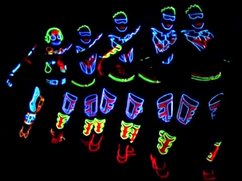 LED and neon show