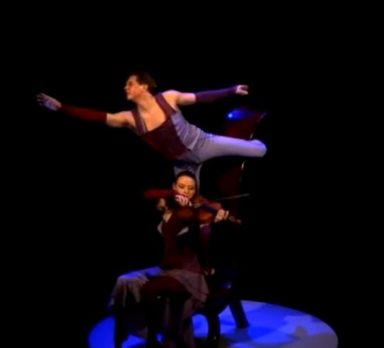 acrobatics and music