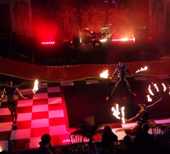 acrobatics and fire show